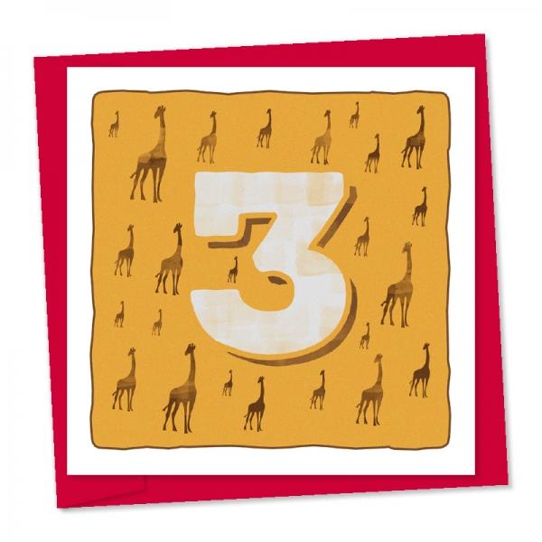 3rd birthday giraffes