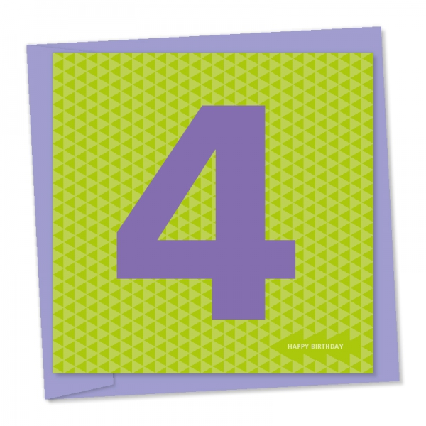 4th birthday purple green triangles