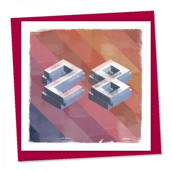 28th birthday building block