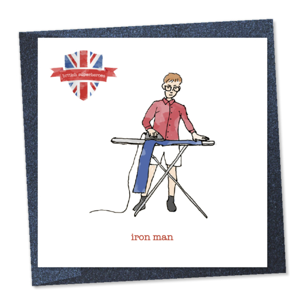 iron man - ironing trousers british superhero