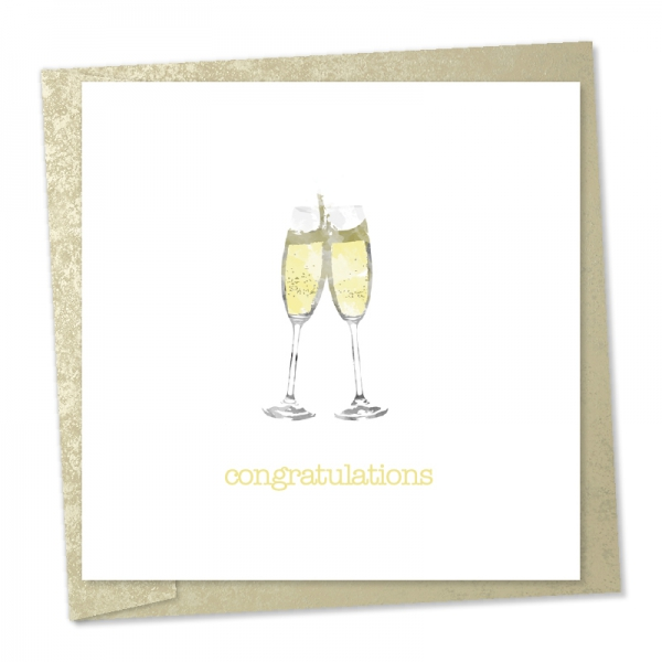 congratulations champagne flutes