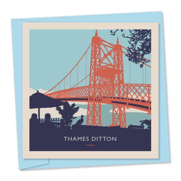 thames ditton island summer bridge