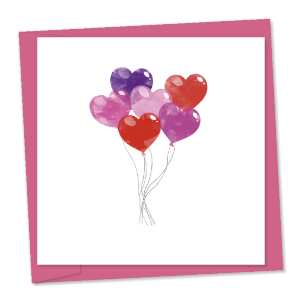 heart shaped balloons pink purple