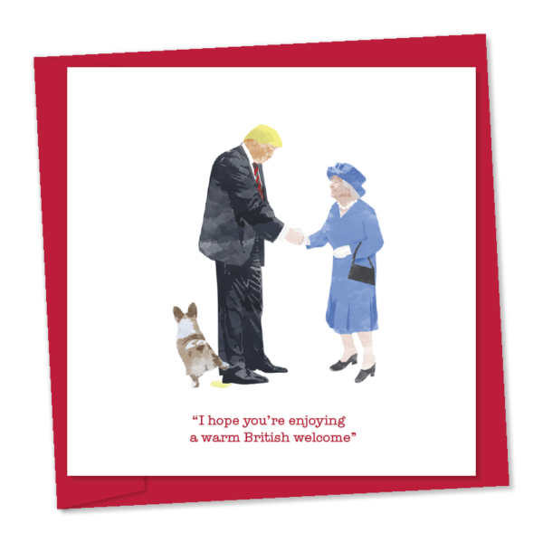 the queen greeting donald trump