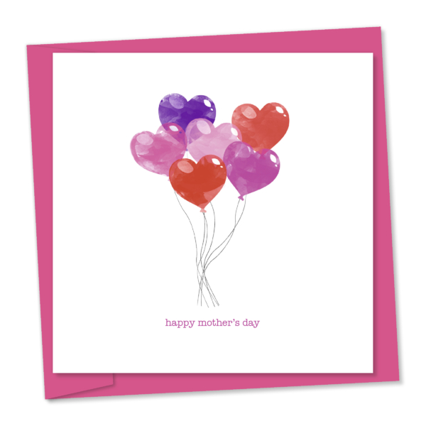 heart-shaped balloons mothers day