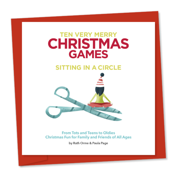 10 Christmas Very Merry Christmas Games sitting in a circle
