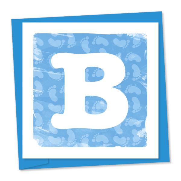 Blue baby B in blue block