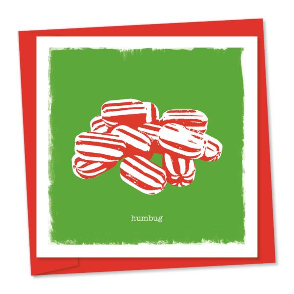 humbug – a pile of christmas humbug sweets
